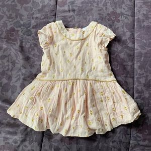 Pink and Gold Infant Dress